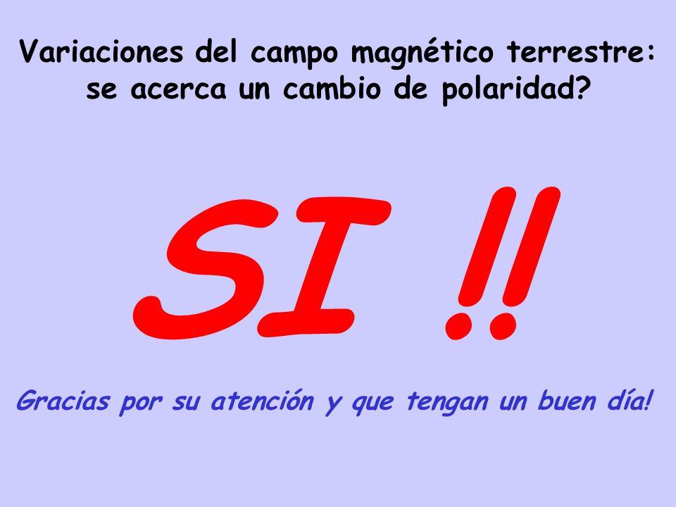 SI !! Variaciones del campo magnético terrestre: