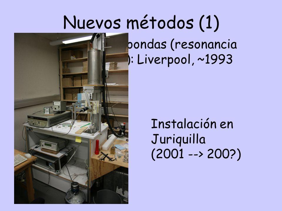 Nuevos métodos (1) Instalación en. Juriquilla.
