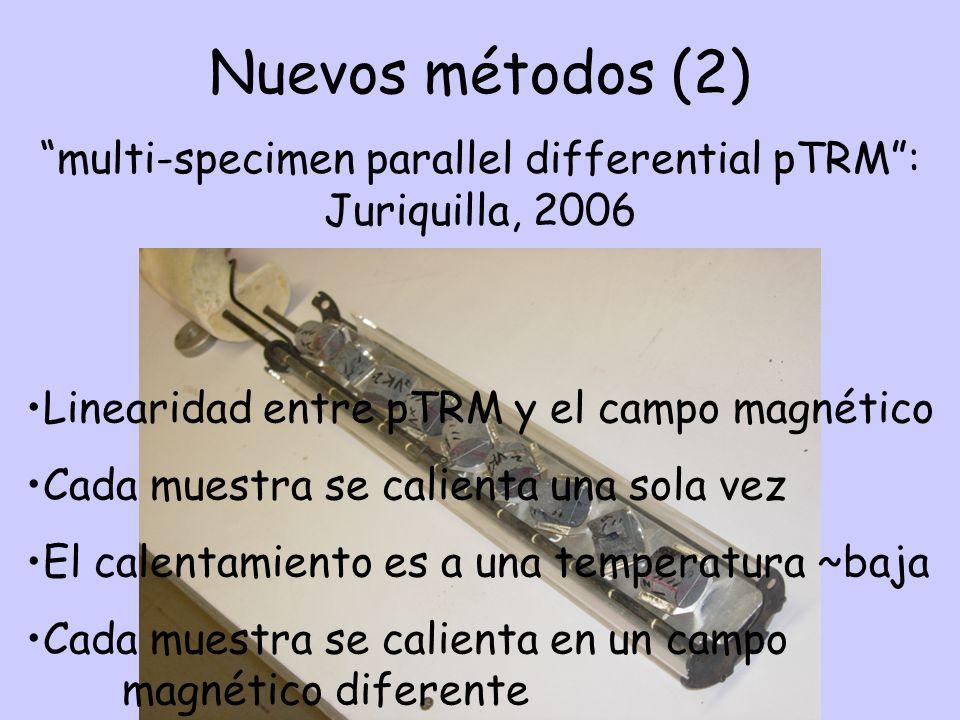 multi-specimen parallel differential pTRM : Juriquilla, 2006