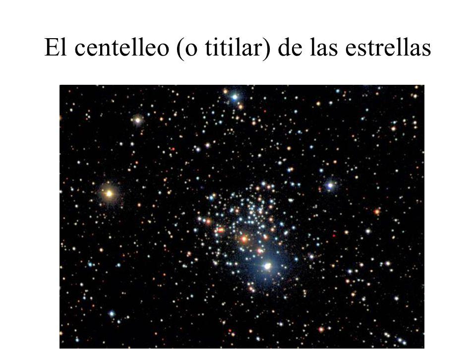 El centelleo (o titilar) de las estrellas