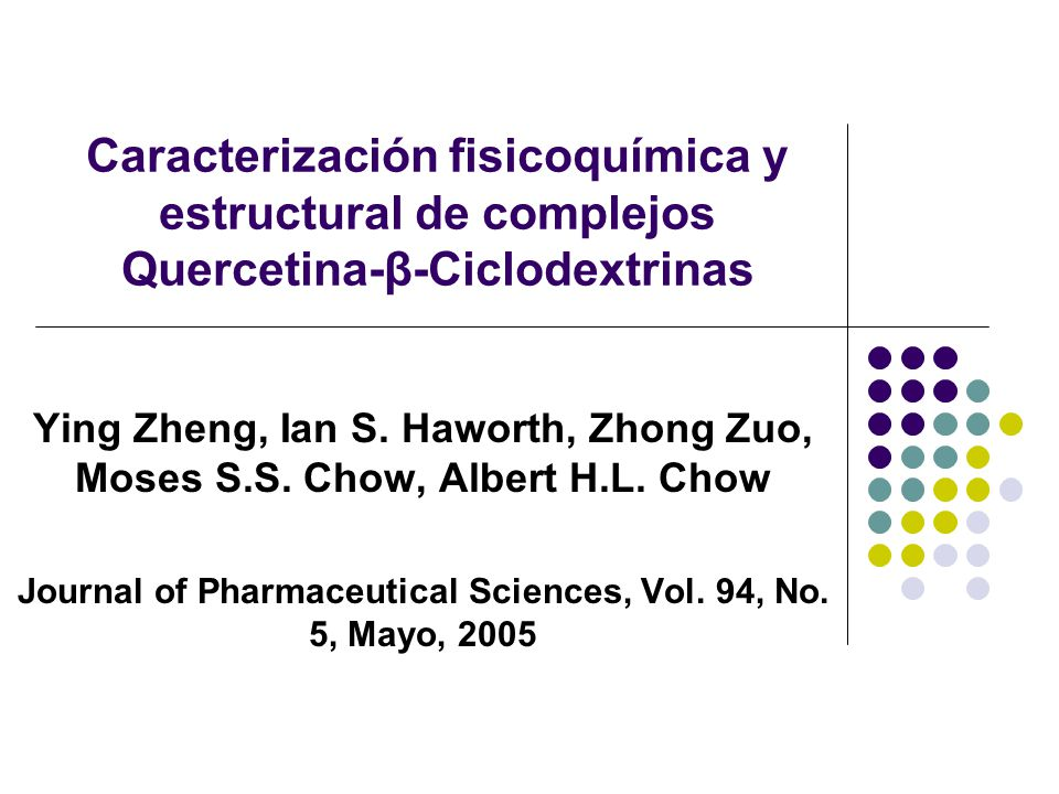 Journal of Pharmaceutical Sciences, Vol. 94, No. 5, Mayo, 2005