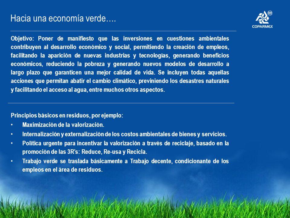 Hacia una economía verde….