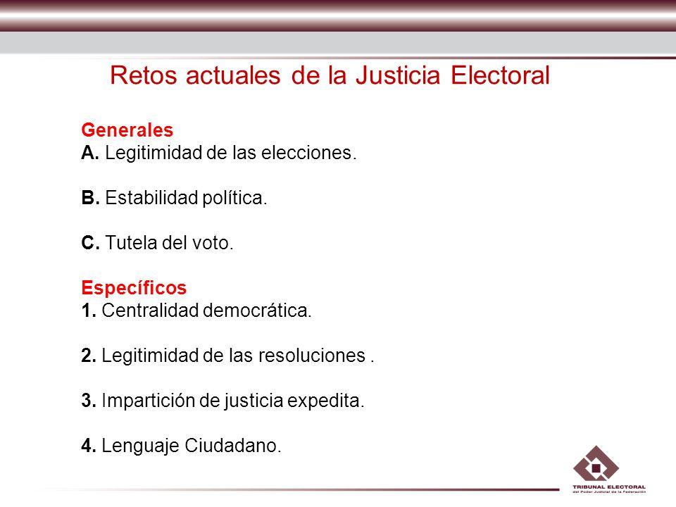 Retos actuales de la Justicia Electoral