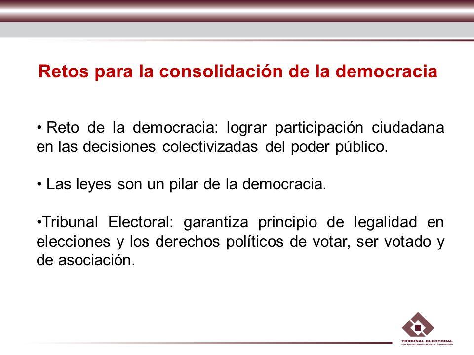 Retos para la consolidación de la democracia