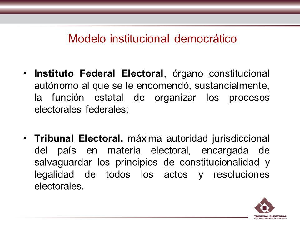 Modelo institucional democrático