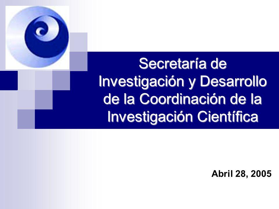 Secretaría de Investigación y Desarrollo de la Coordinación de la Investigación Científica