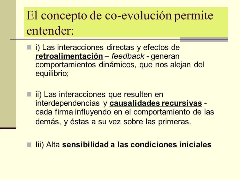 El concepto de co-evolución permite entender: