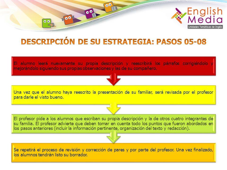 DESCRIPCIÓN DE SU ESTRATEGIA: PASOS 05-08
