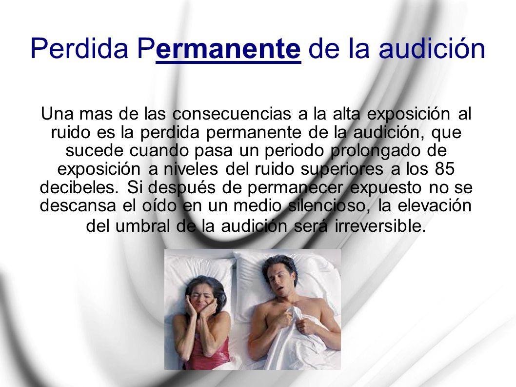 Perdida Permanente de la audición
