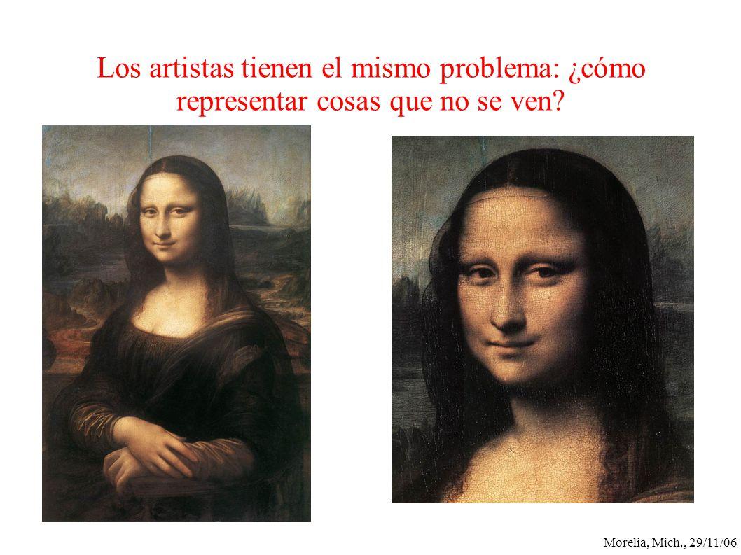 Los artistas tienen el mismo problema: ¿cómo representar cosas que no se ven