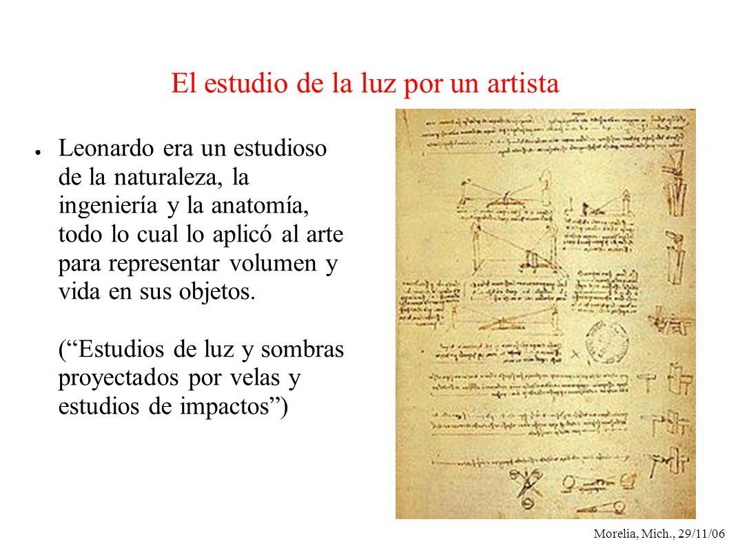 El estudio de la luz por un artista