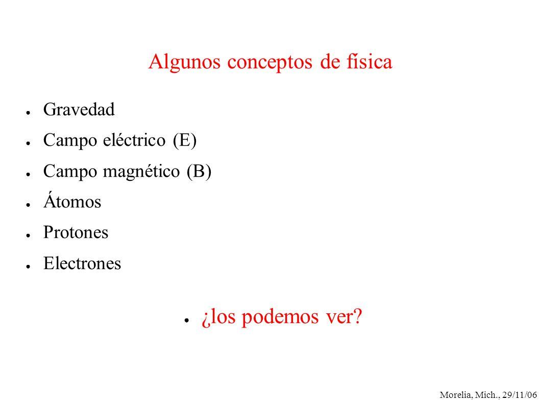 Algunos conceptos de física