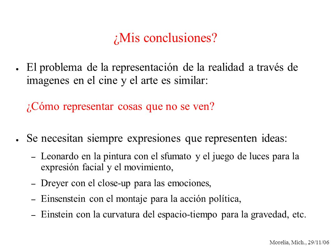 ¿Mis conclusiones