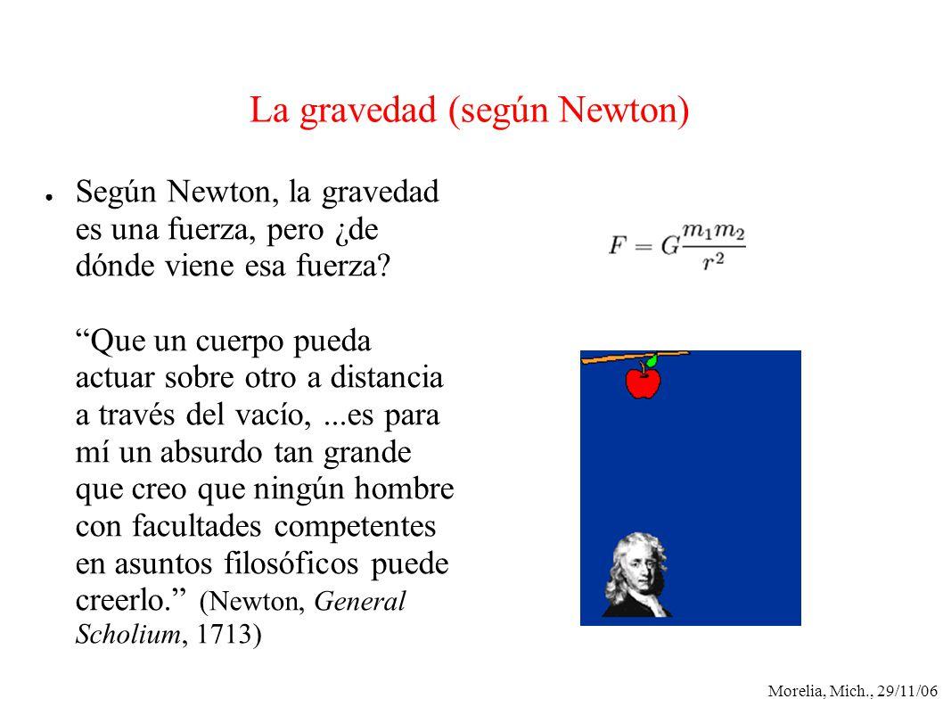 La gravedad (según Newton)
