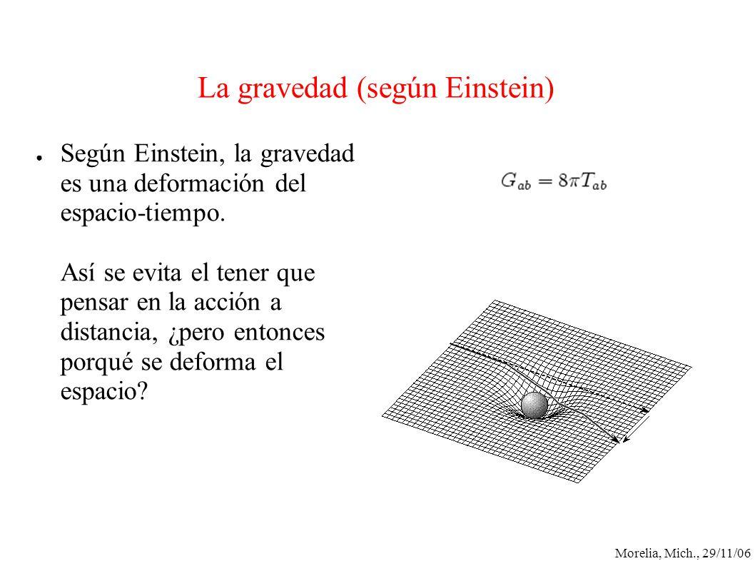 La gravedad (según Einstein)