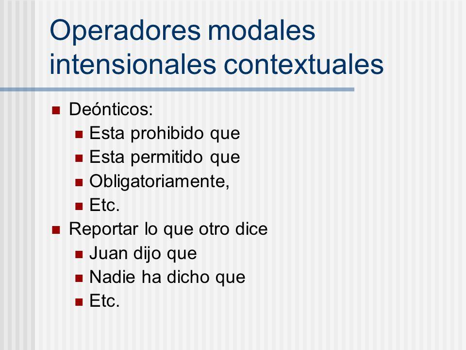 Operadores modales intensionales contextuales