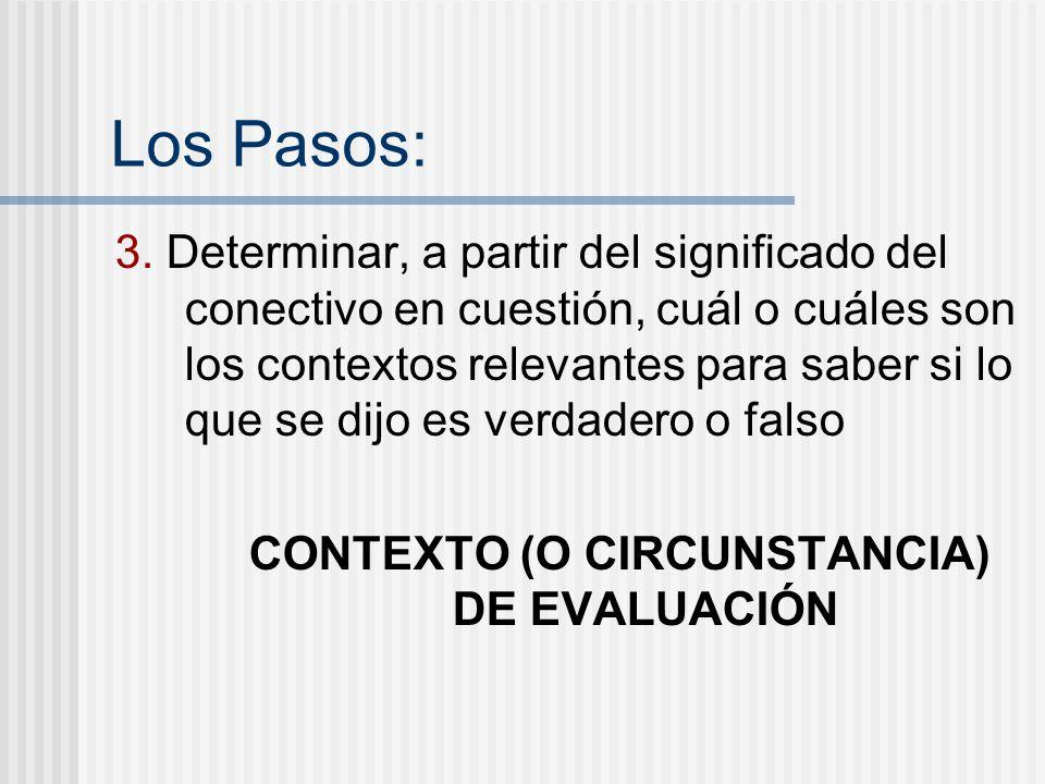 CONTEXTO (O CIRCUNSTANCIA) DE EVALUACIÓN