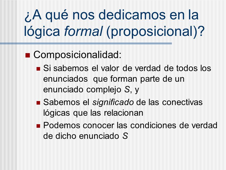 ¿A qué nos dedicamos en la lógica formal (proposicional)