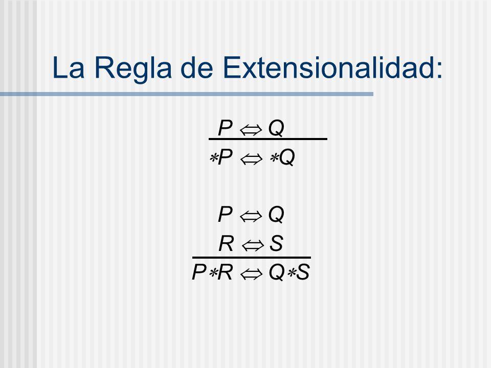 La Regla de Extensionalidad:
