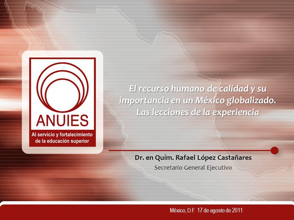 Dr. en Quím. Rafael López Castañares Secretario General Ejecutivo