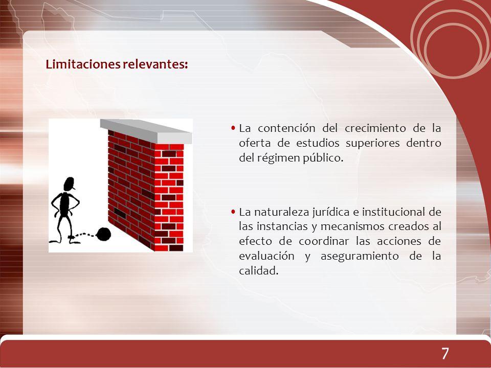 7 7 Limitaciones relevantes: