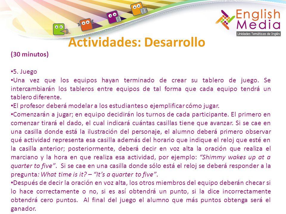 Actividades: Desarrollo