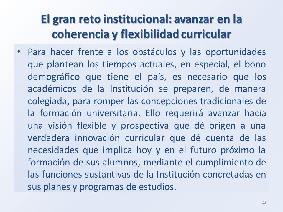 El gran reto institucional: avanzar en la coherencia y flexibilidad curricular