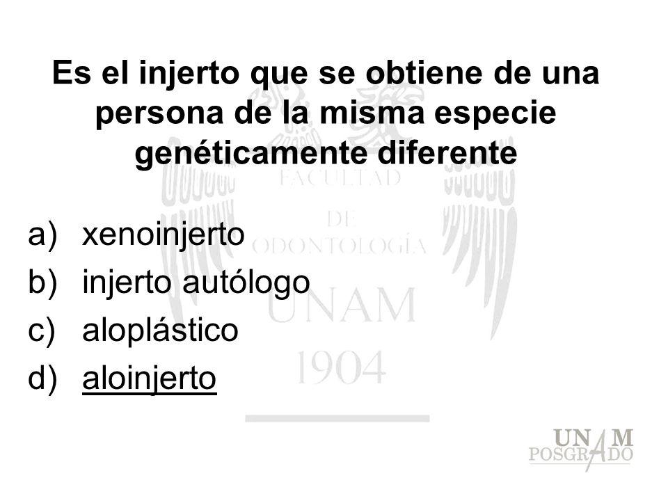 xenoinjerto injerto autólogo aloplástico aloinjerto