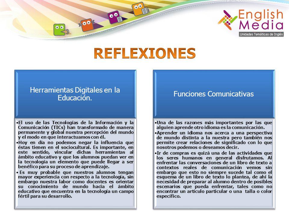 REFLEXIONES Herramientas Digitales en la Educación.
