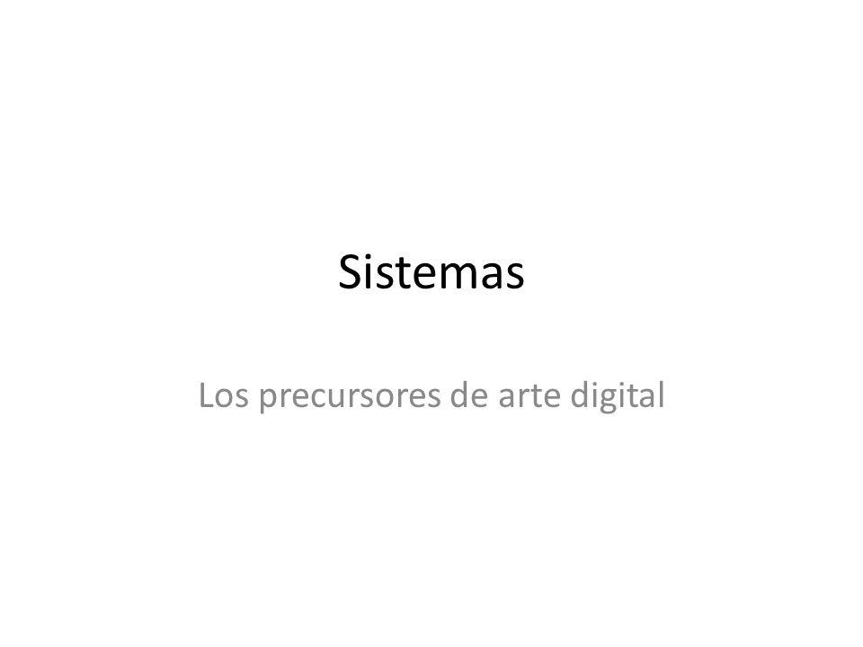 Los precursores de arte digital