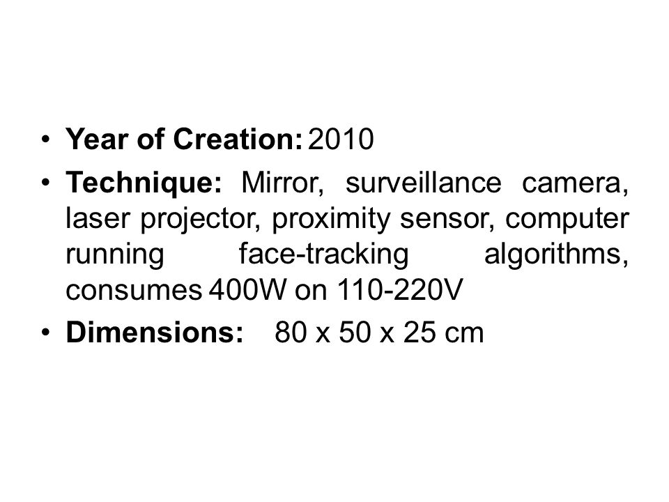 Year of Creation: 2010