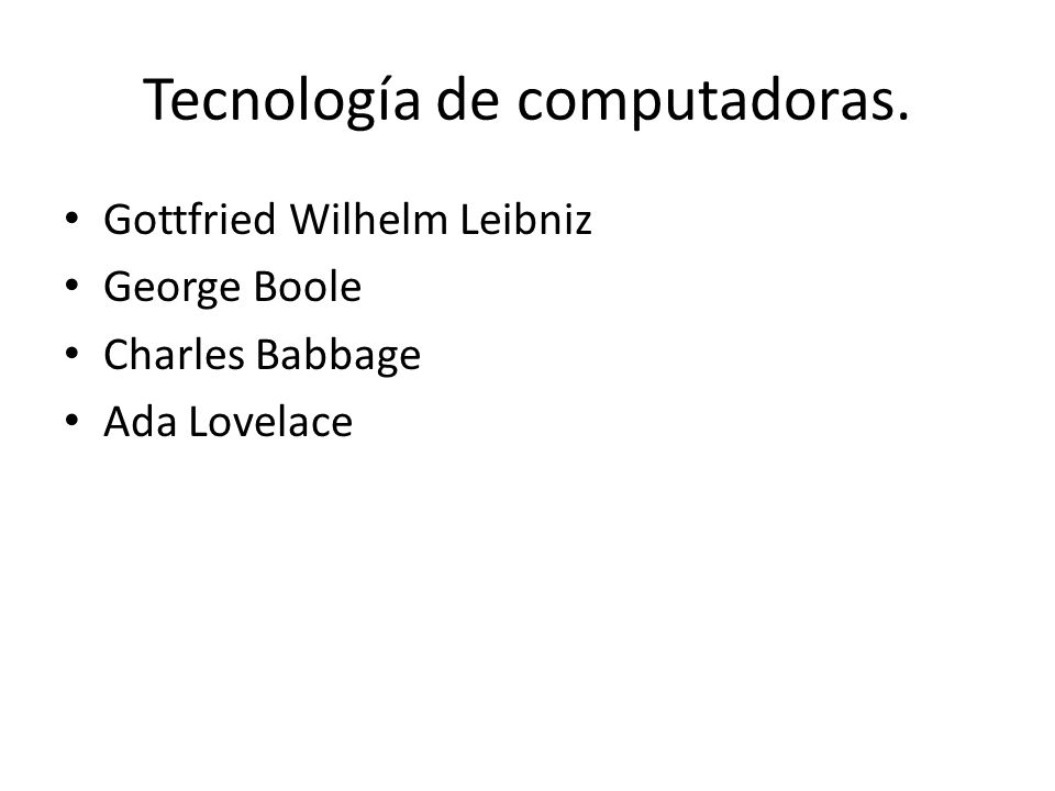 Tecnología de computadoras.