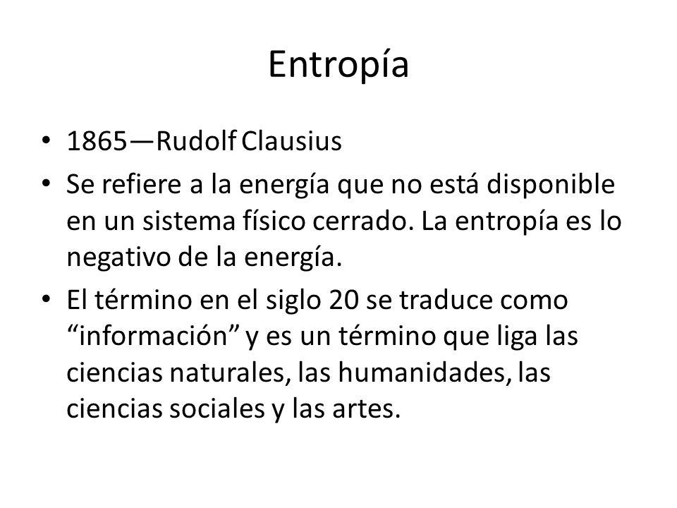 Entropía 1865—Rudolf Clausius