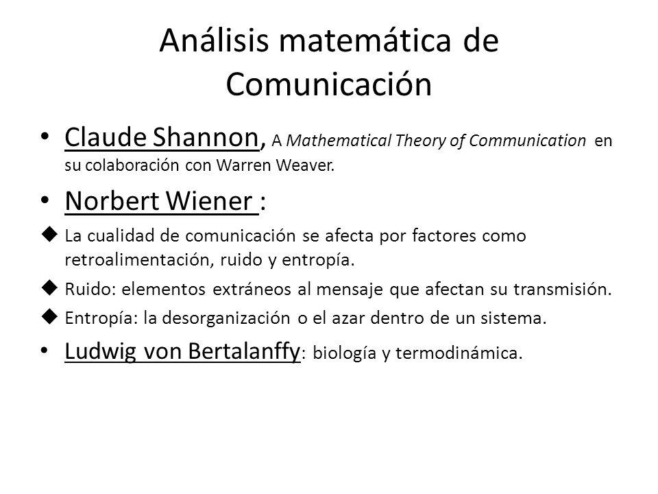 Análisis matemática de Comunicación