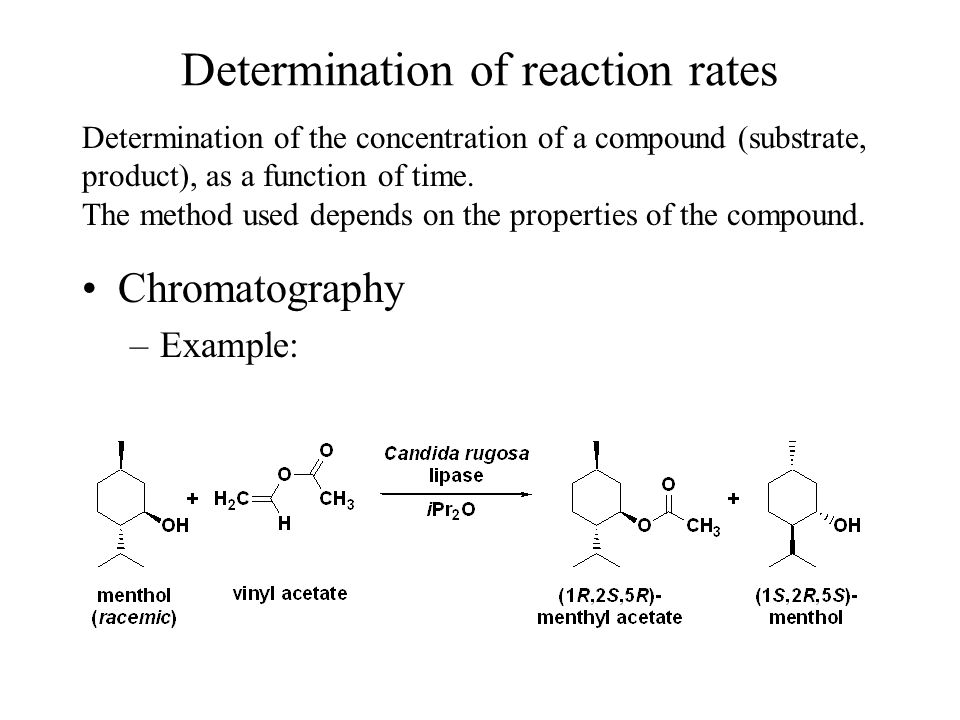 Determination of reaction rates