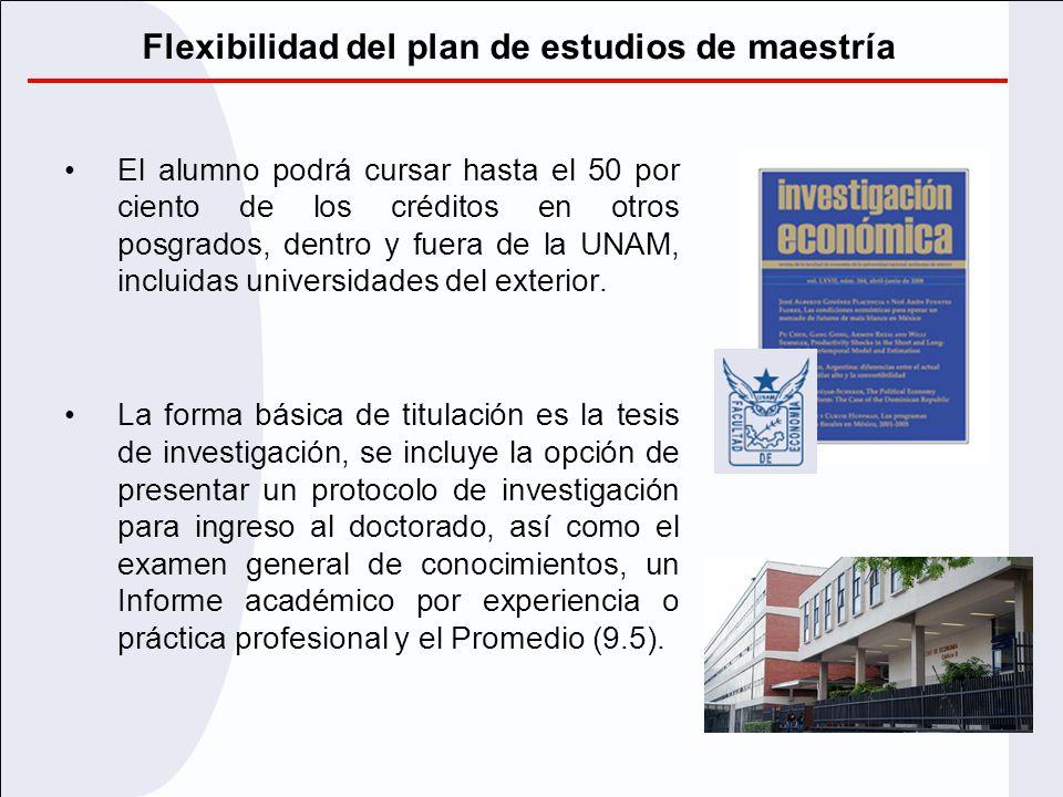 Flexibilidad del plan de estudios de maestría