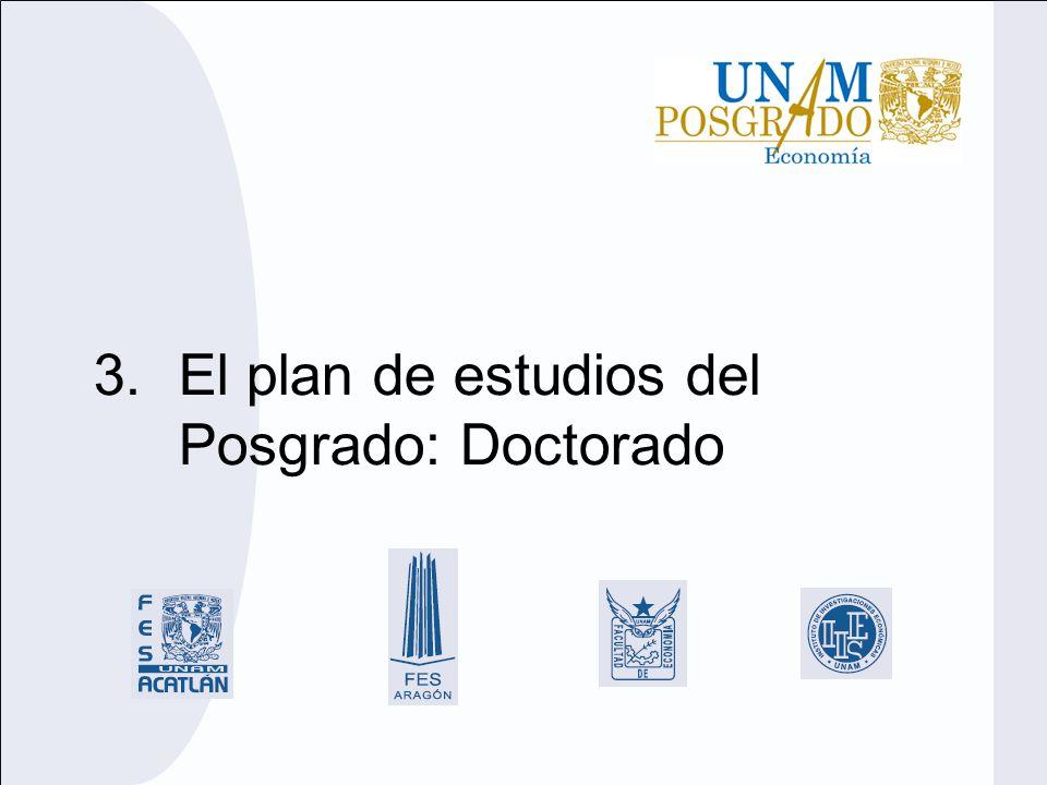 El plan de estudios del Posgrado: Doctorado