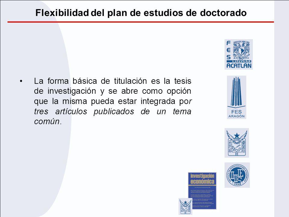 Flexibilidad del plan de estudios de doctorado