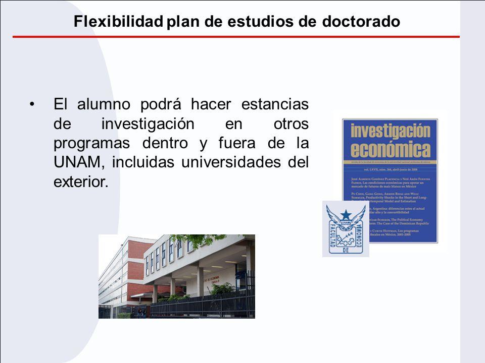 Flexibilidad plan de estudios de doctorado