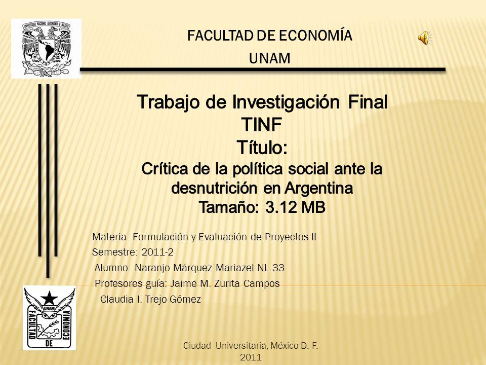 Trabajo de Investigación Final TINF Título: