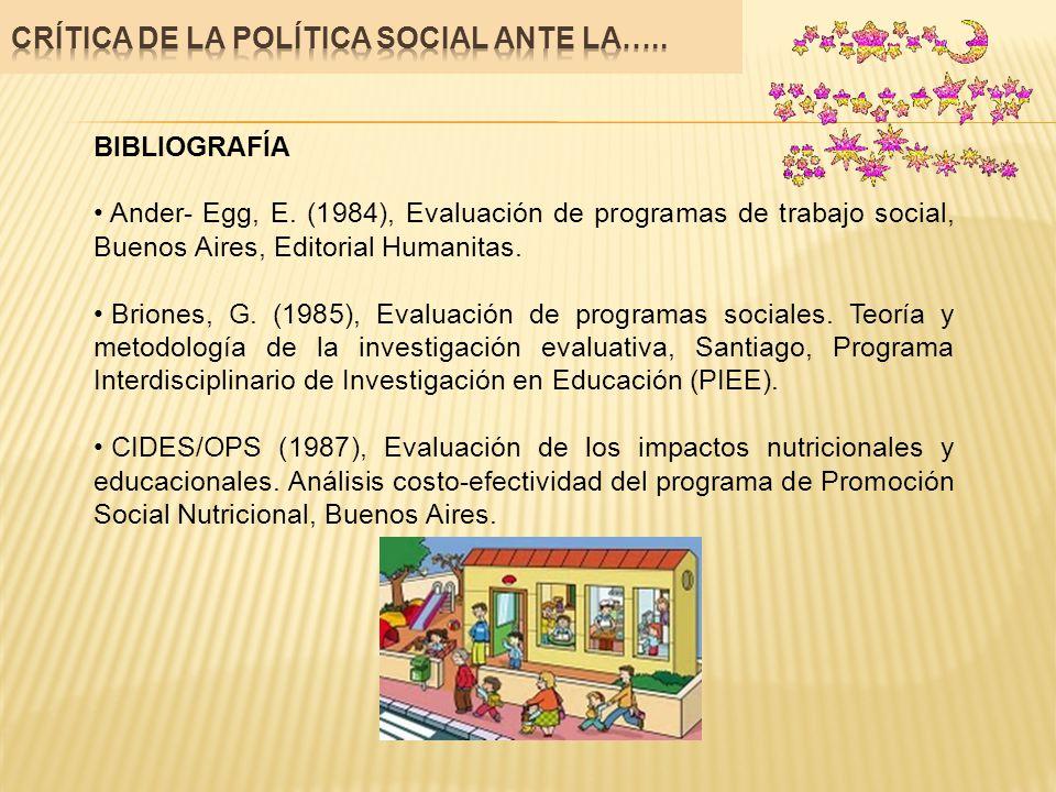 Crítica de la política social ante la…..
