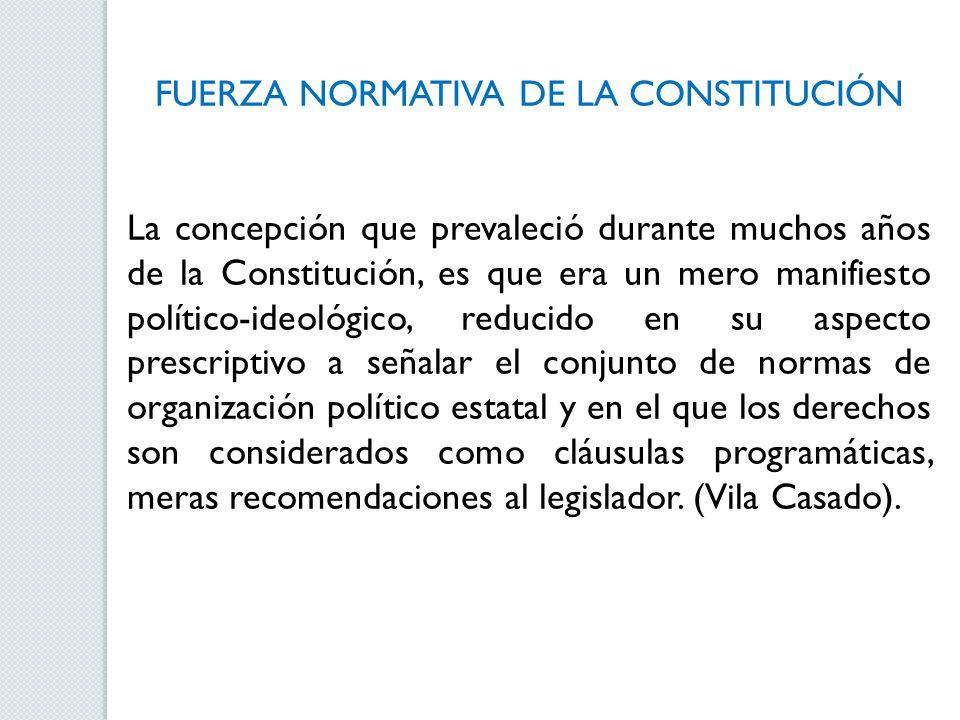 FUERZA NORMATIVA DE LA CONSTITUCIÓN
