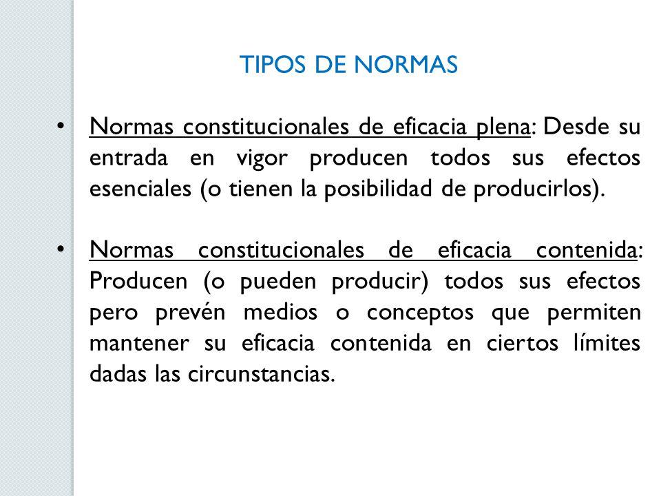 TIPOS DE NORMAS