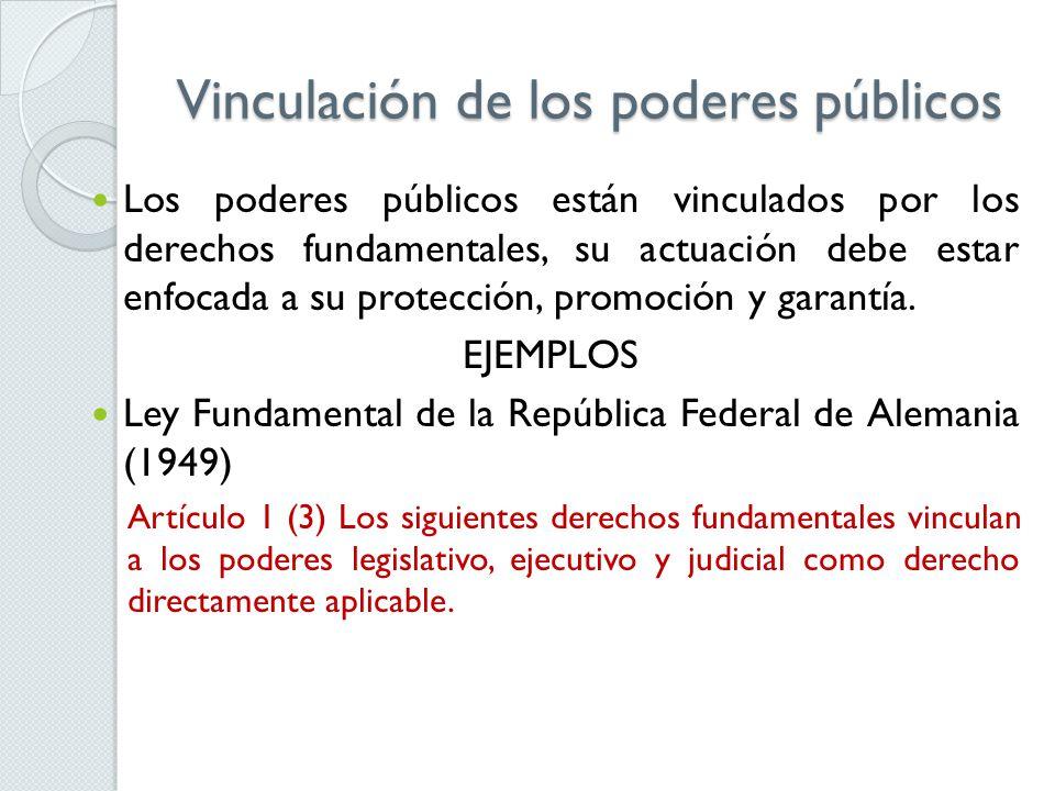 Vinculación de los poderes públicos