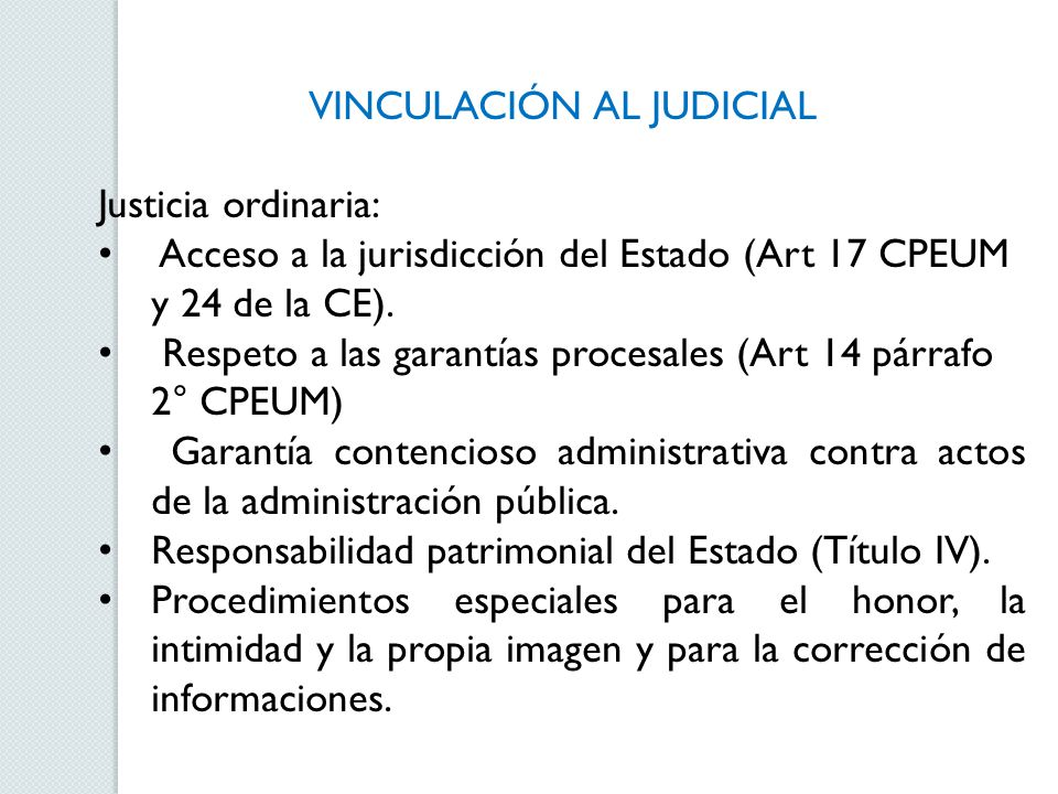 VINCULACIÓN AL JUDICIAL