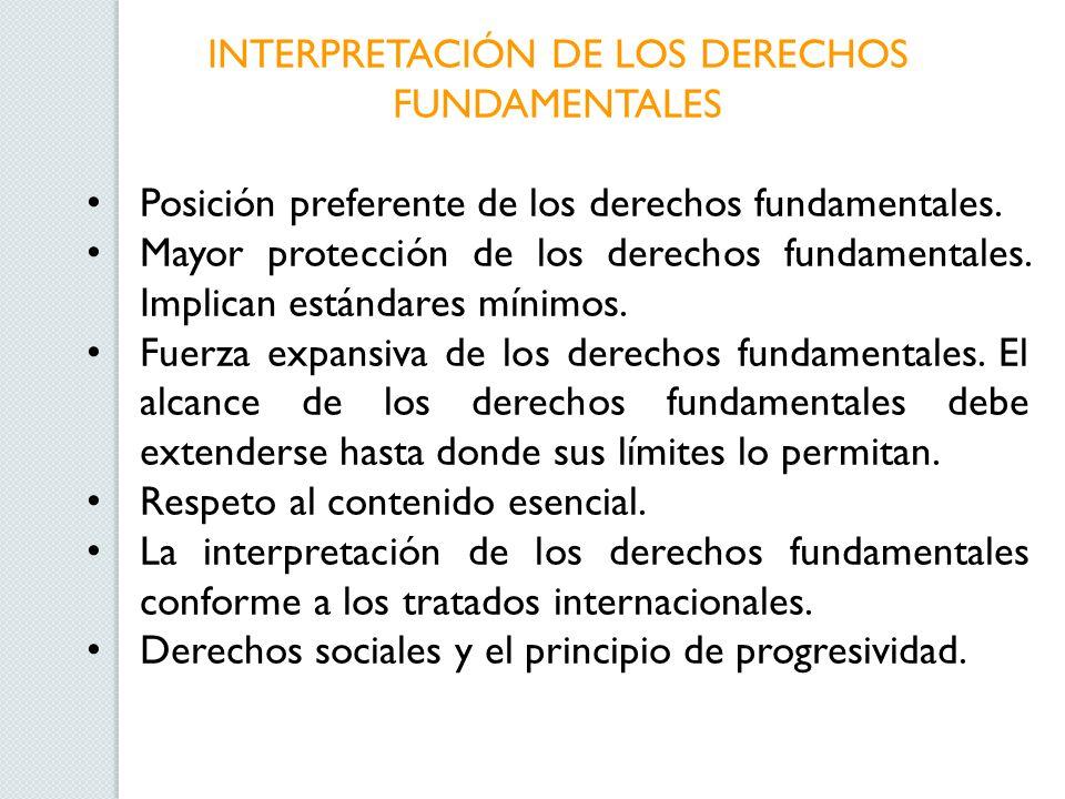 INTERPRETACIÓN DE LOS DERECHOS FUNDAMENTALES