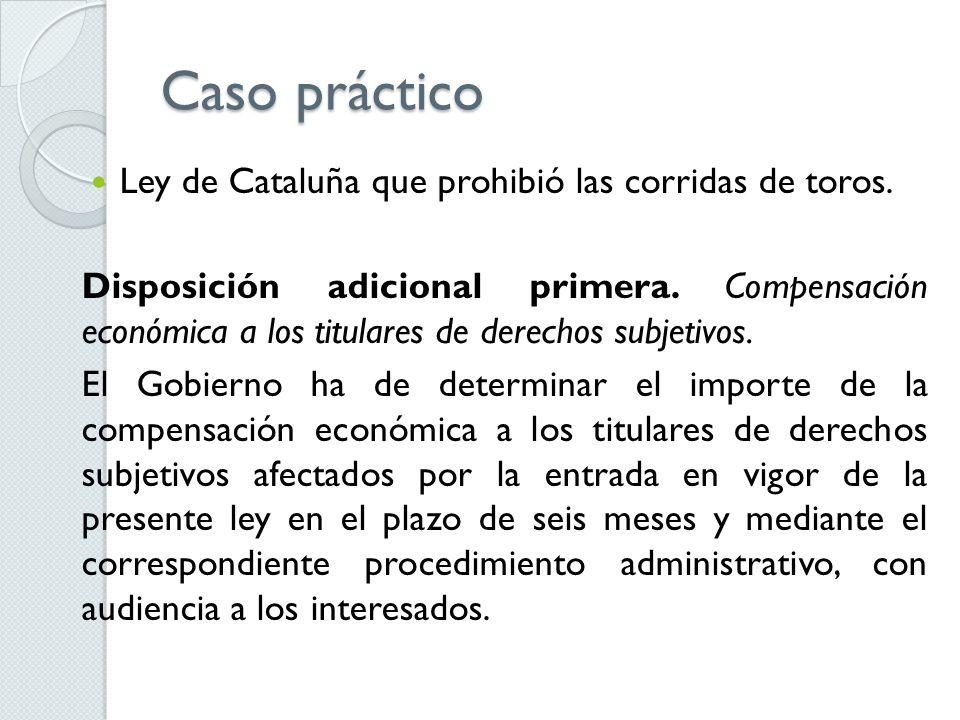 Caso práctico Ley de Cataluña que prohibió las corridas de toros.