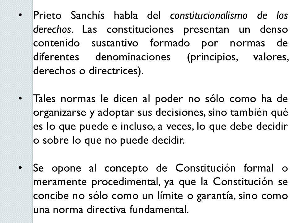 Prieto Sanchís habla del constitucionalismo de los derechos