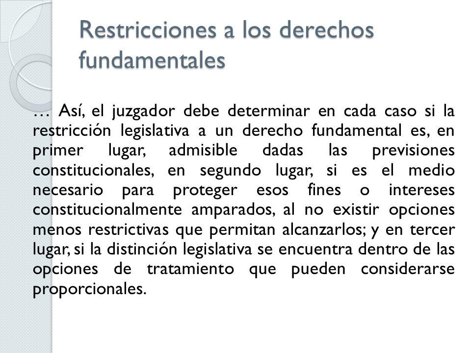 Restricciones a los derechos fundamentales