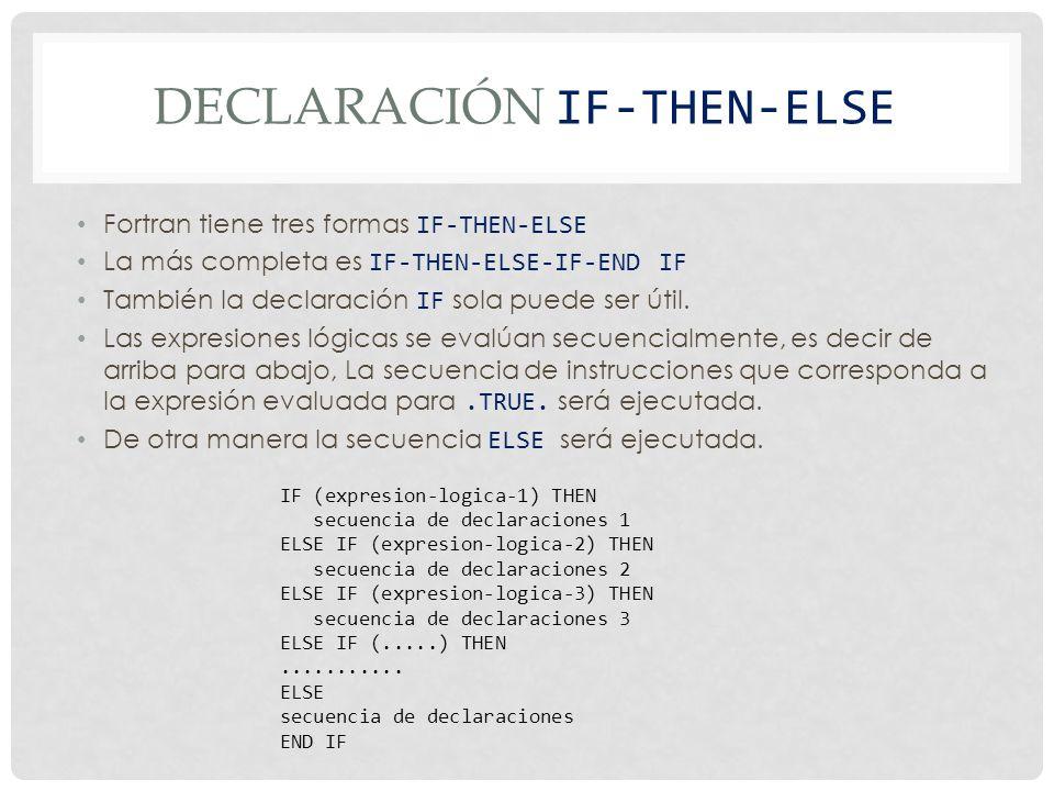 Declaración IF-THEN-ELSE